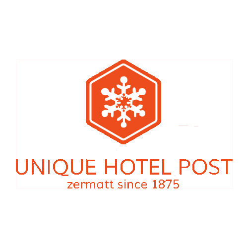 Logo Unique Hotel Post mit Claim Zermatt since 1875